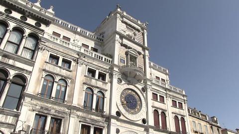 St Mark's Clock tower, Venice, Italy Footage