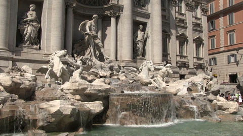 Trevi Fountain, Rome, Italy Footage
