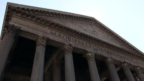 Pantheon, Rome, Italy Footage