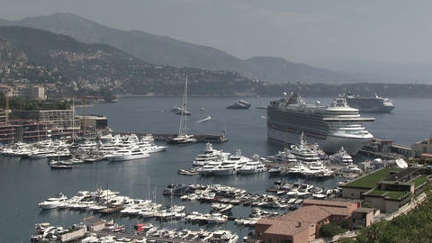 Ships And Luxury Yachts Moored at Harbor Footage