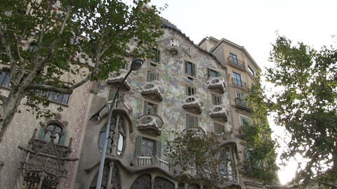 Low Angle View Of Casa Batllo Footage