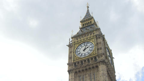 Low Angle View of Big Ben Footage