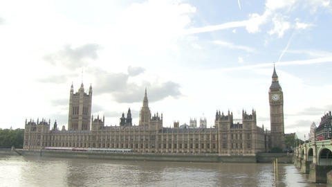 Palace Of Westminster stock footage