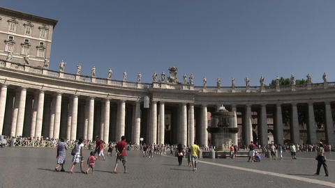 St. Peter's Square, Vatican City ビデオ