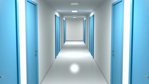 Walking through the corridor Animation