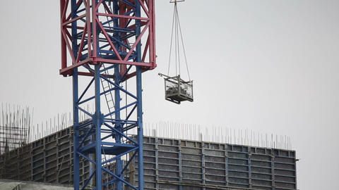Construction crane is working Footage