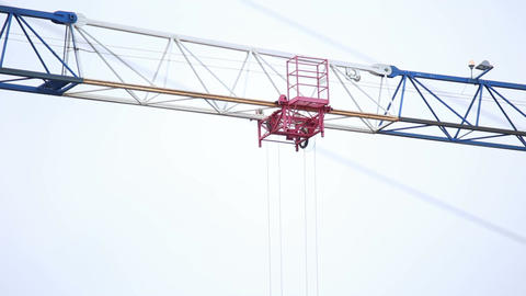 Construction crane is working Live Action