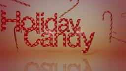 Holiday Candy Cane Background Animation