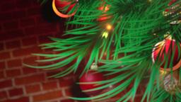 Christmas Tree Background stock footage