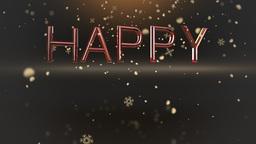Happy Holidays celebration clip Animation