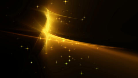 Golden festive background with twinkling stars Animation
