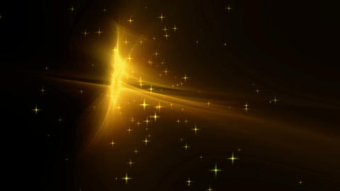 Golden festive background with twinkling stars Stock Video Footage