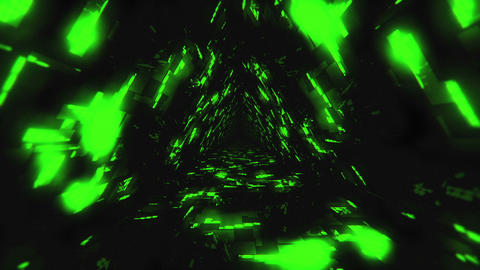 VJ Loop Green Energy Tunnel Animation
