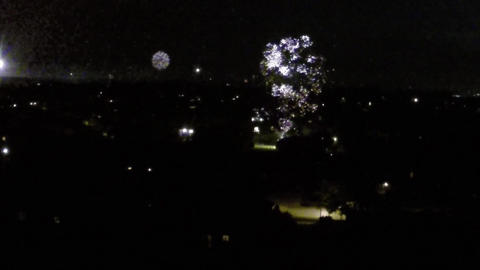 Fireworks seen from the sky with gopro camera and drone ビデオ