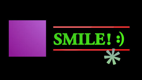 Animation with the word smile Animation