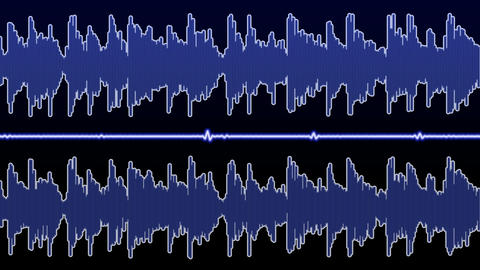 Double audio waveform (equalizer - 60 seconds) Animation