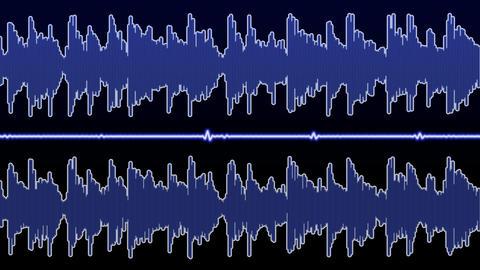 Double audio waveform (equalizer - 60 seconds) Animation