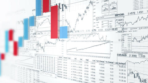 Finance bar graphs. Market Analyze. Business analytics background Animation