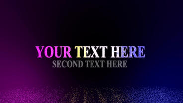 Colorful double text theme (no plugins ) After Effects Template