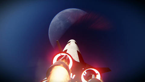 Rocket launch to the moon footage Footage