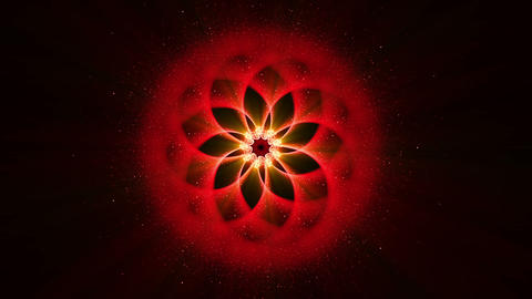 Red Ornamental Round Pattern, Mandala, Festive Background Animation