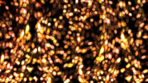 falling bokeh gold flakes flare Animation