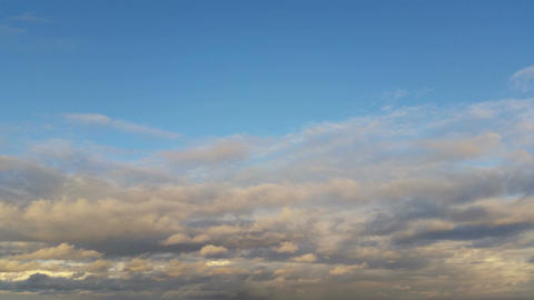 Cloud Scape With Soft Fluffy Clouds In Sky stock footage