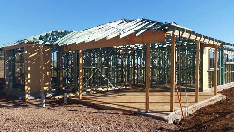 4K Housing Development Construction Australia stock footage