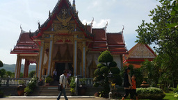 4K Thailand Buddhist Temple of Wat Chalong Phuket Live Action