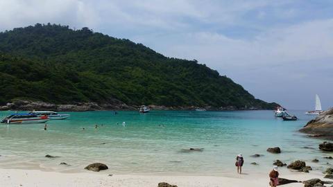 4K Tropical Beach Racha Island Footage
