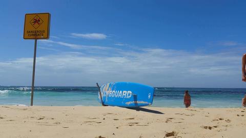 BONDI BEACH LIFEGARD, SYDNEY, AUSTRALIA Stock Video Footage