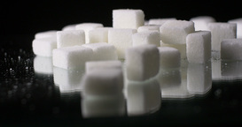 White Sugar Cane Cubes Glucose Sweetener Slowmo stock footage
