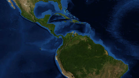 Central America From Space stock footage