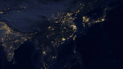 China lights from space zoom Footage