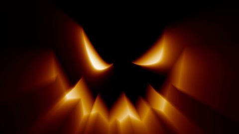 Halloween jack-o-lantern evil spooky scary horror face Footage