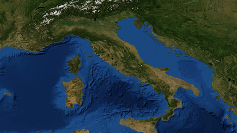 Italy from space - slow tilt Footage