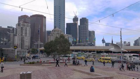 4K Melbourne City Victoria Australia Live Action