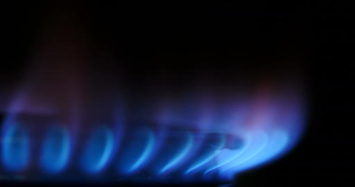 Energy Fossil fuel gas stove burner Footage