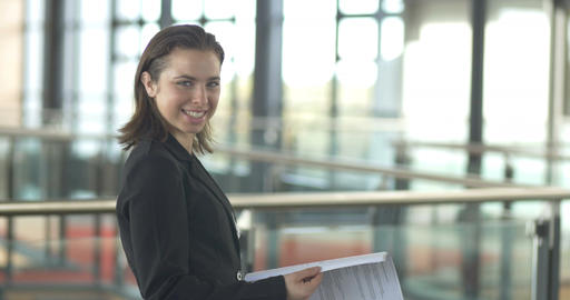 Busy working businesswoman portrait corporate career job Footage