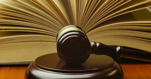 Court Legal Law System Mallet Of Judge Legal Code Of Judgment stock footage