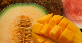 Fruits health daily eating and vitamin rich diet Footage