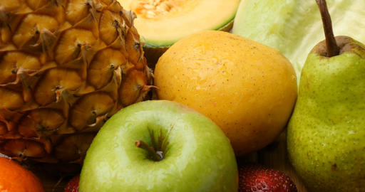 Fruits Fresh Food Natural Agriculture Crops stock footage