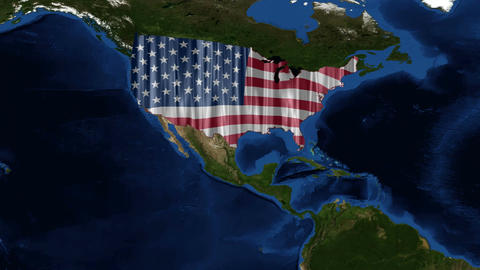 United States of America - USA Map - from space Stock Video Footage