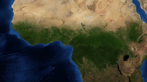 4K West Africa from space - slow tilt Footage