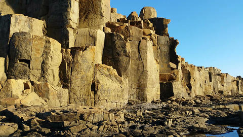 Basalt column rock formation Footage