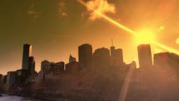 Melbourne City Victoria Australia - Sunset Live Action