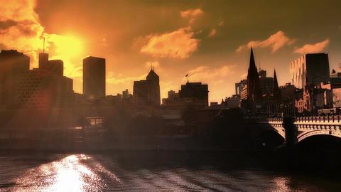 Melbourne City Victoria Australia Live Action