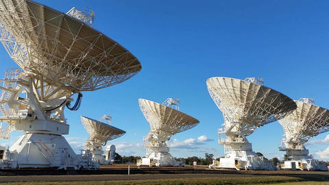 Satelite Dishes - Radio Telescope Compact Array - Space Science Footage