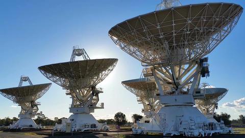 Radio Telescope Compact Array - Space Science Footage