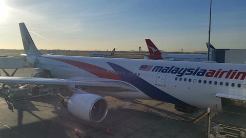 Malaysia Airlines - Airport Terminal Departure Gate Travel Holiday Footage